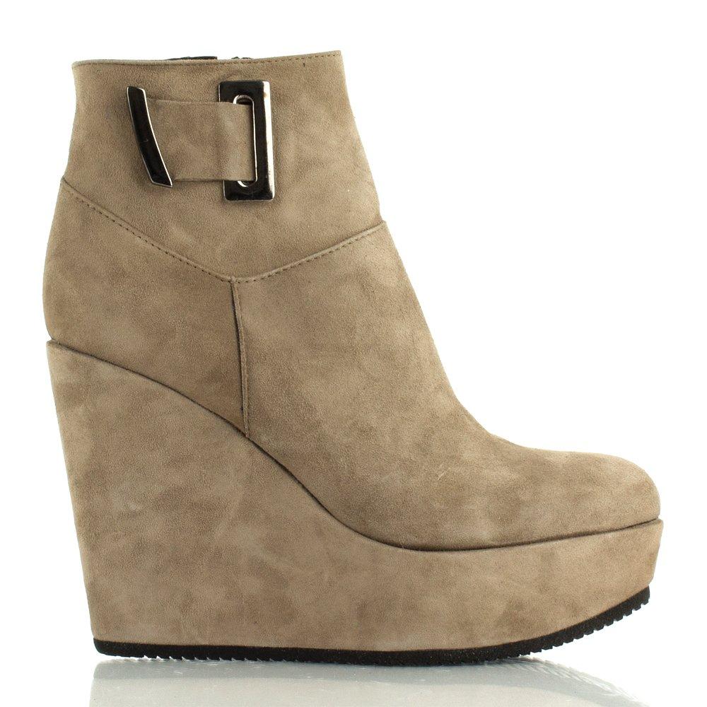 daniel taupe daru women s wedge ankle boot