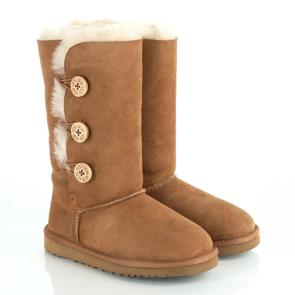 ugg chestnut kids bailey triplet sheepskin boots ugg from daniel footwear uk. Black Bedroom Furniture Sets. Home Design Ideas
