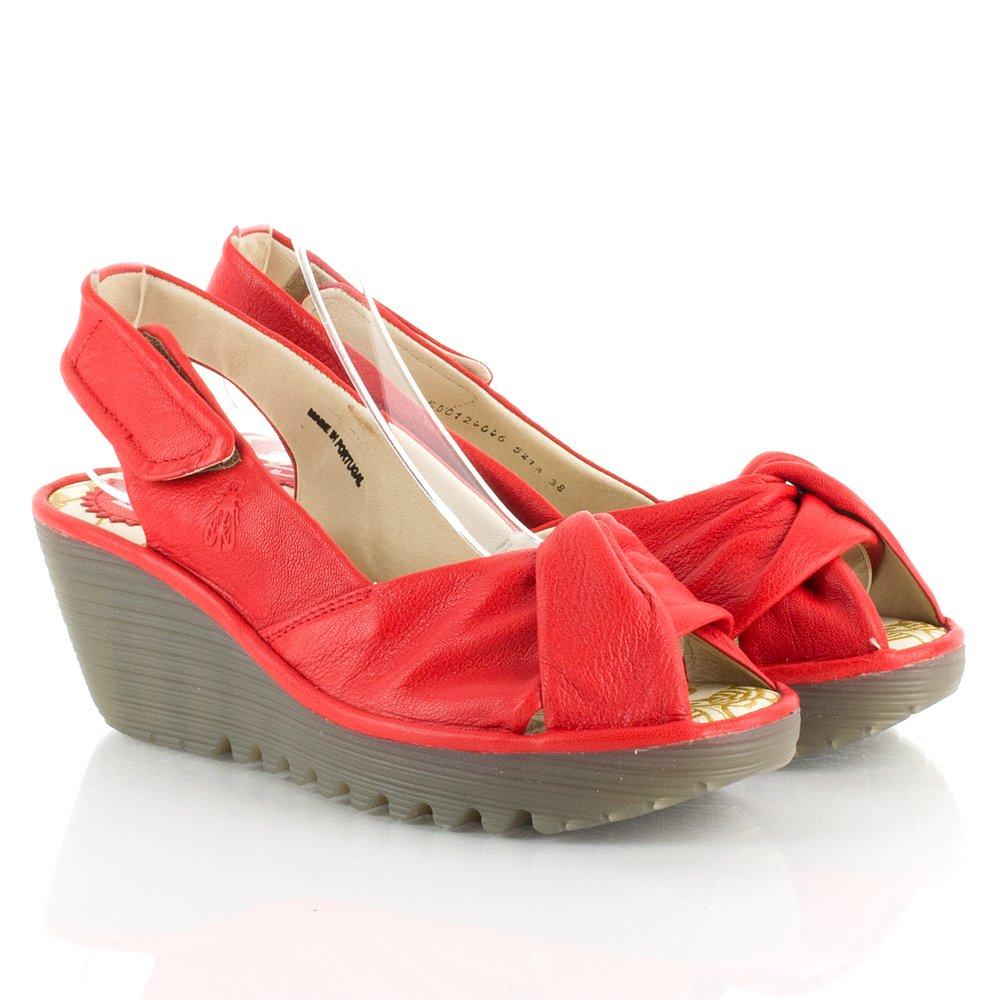 Fly Red Yakin Women S Mid Wedge Sandal