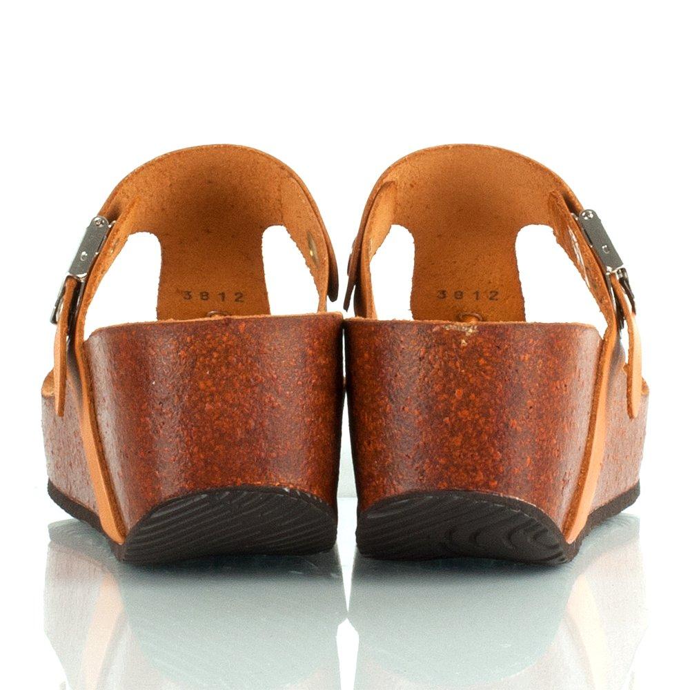 Scholl Edna Tan Women S Wedge Toe Post Sandal