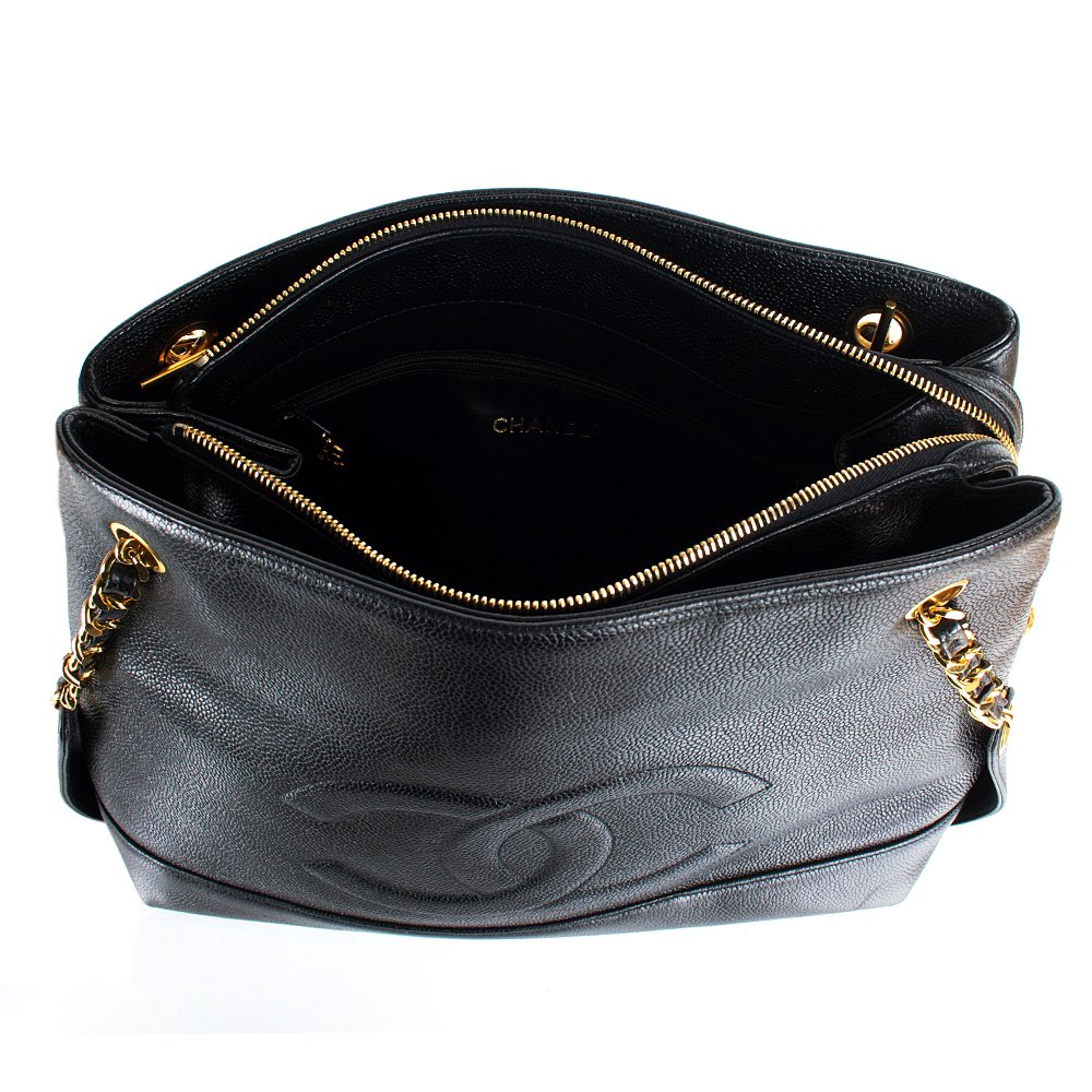 Excellent Chanel Shoulder Bag Black Leather Ref A54823  Instant Luxe