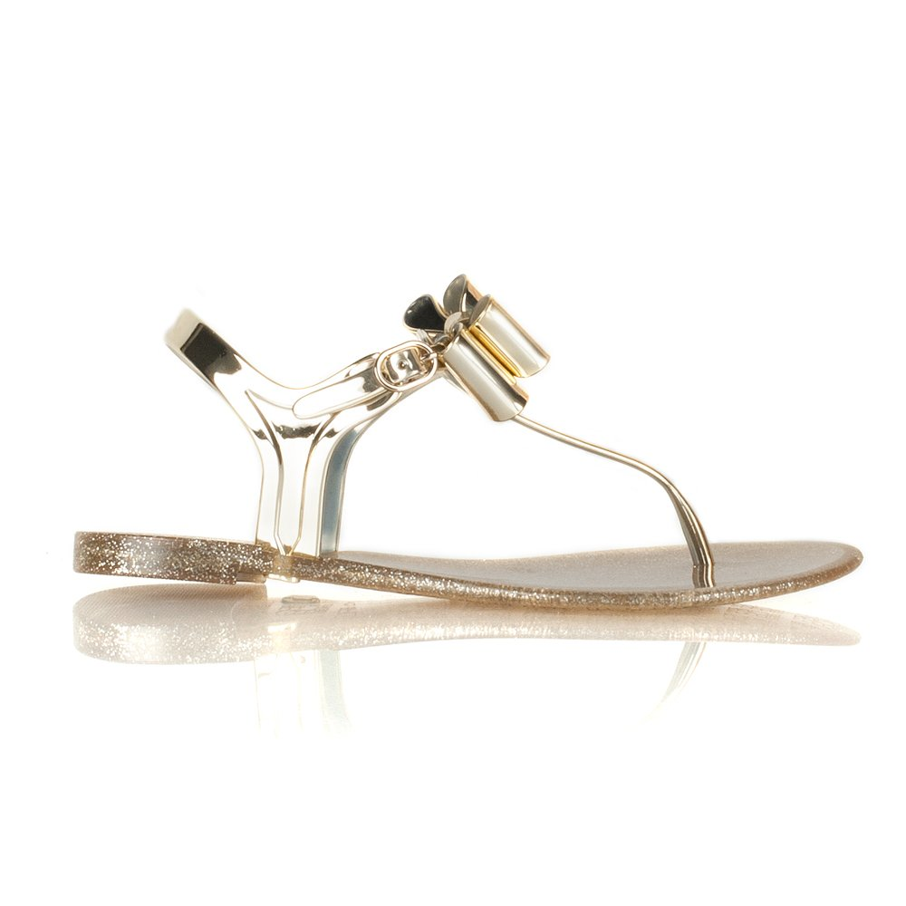 Bcbgeneration Gold Flat Jelly Sandals