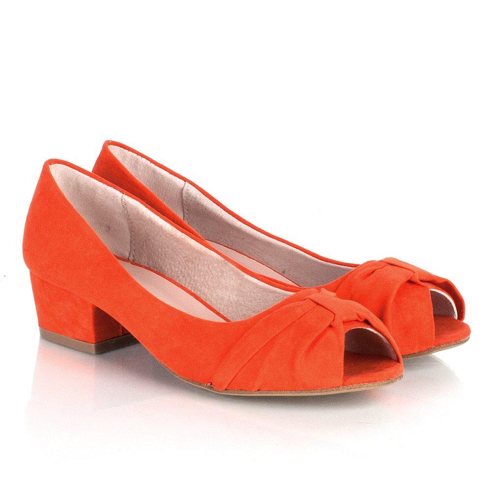 Daniel Orange Sierra Women's Low Heel Court Shoe