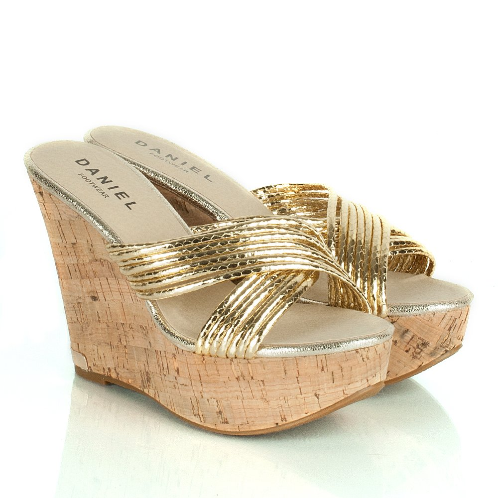 Daniel Gold Drizzy Women S Wedge Sandal