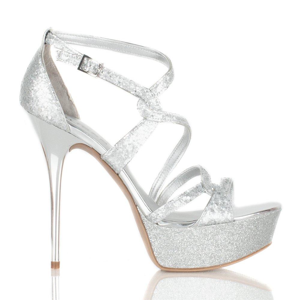 Guess Silver Gw Duriany Women S Platform Sandal