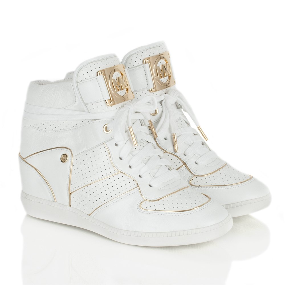 michael kors white women s nikko high top trainer. Black Bedroom Furniture Sets. Home Design Ideas