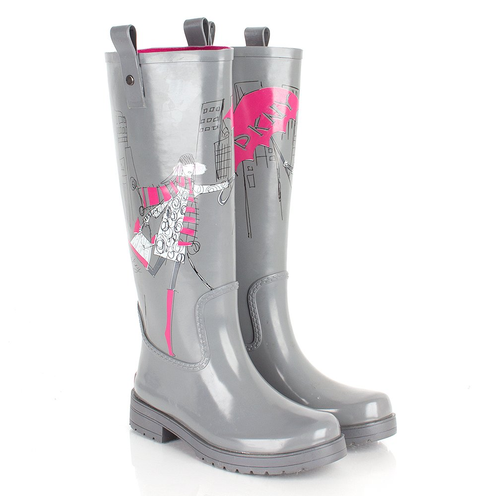 dkny grey niagara s wellington boot