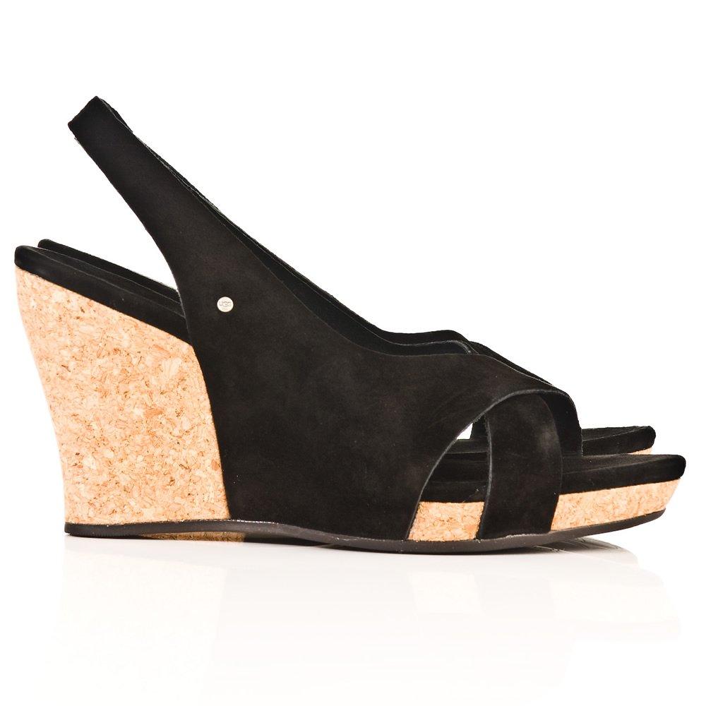 Ugg R Black Hazel Wedge Sandal