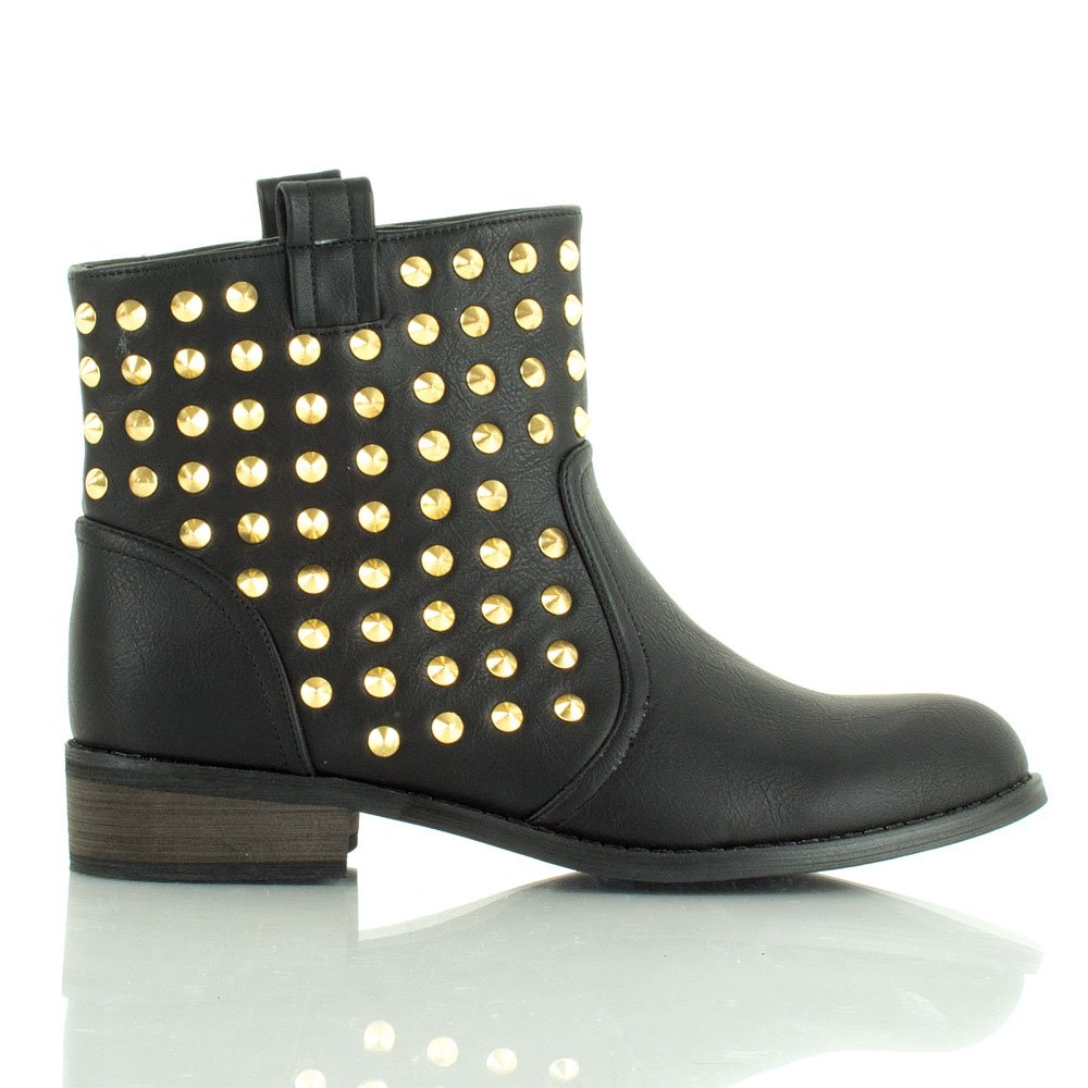 daniel black spine s flat studded boot