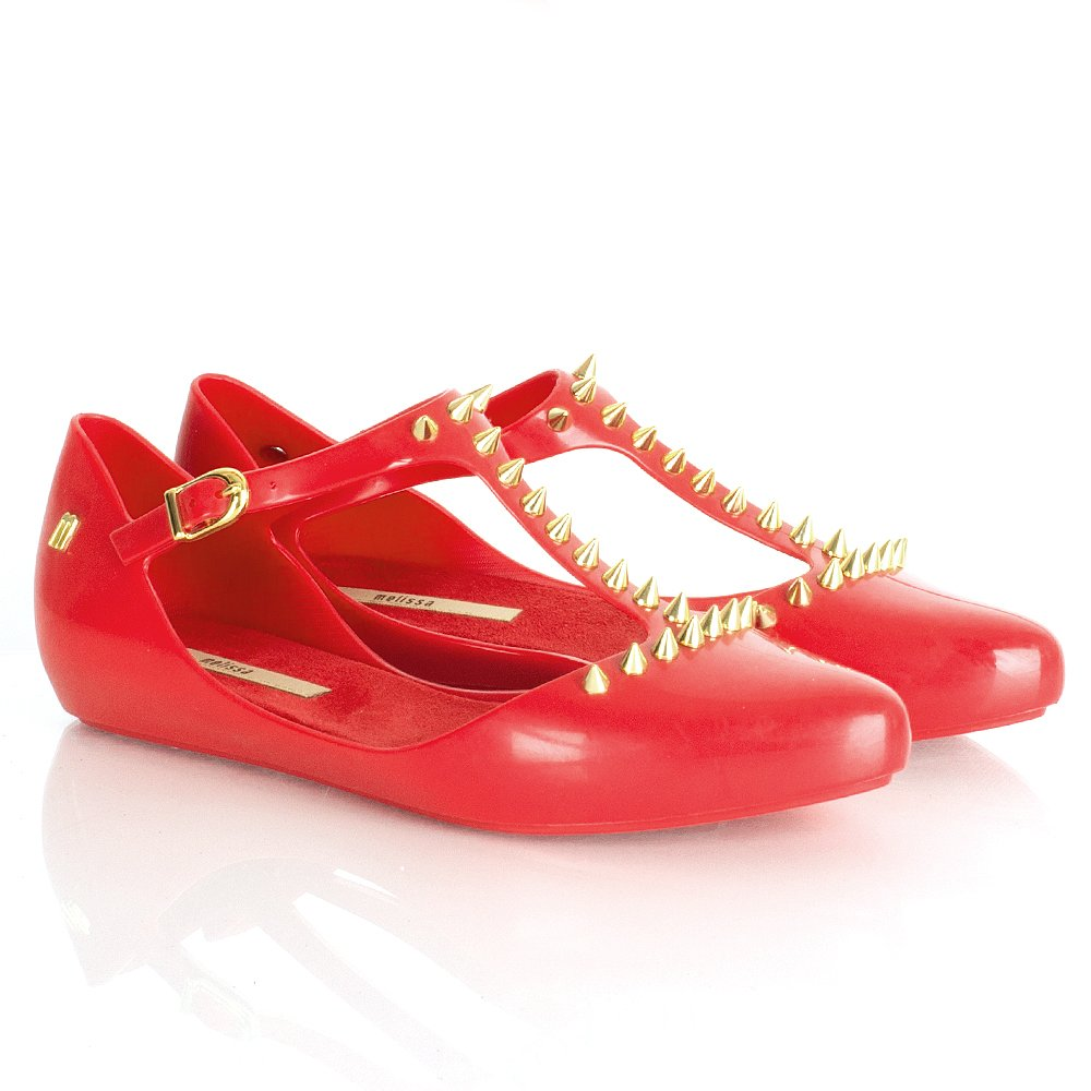 red spiked shoes