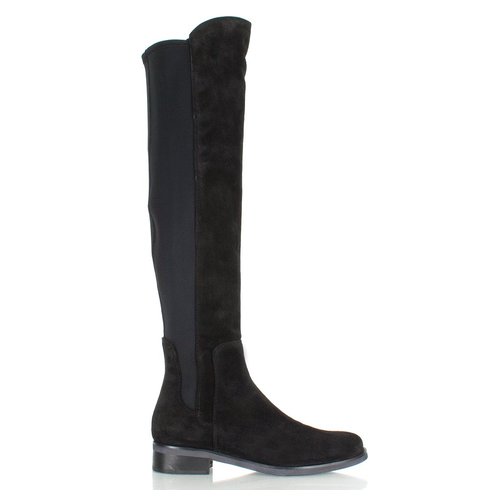 daniel black suede clyde womens flat knee boot