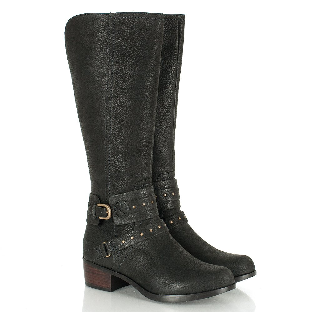 ugg esplanade grained leather boots