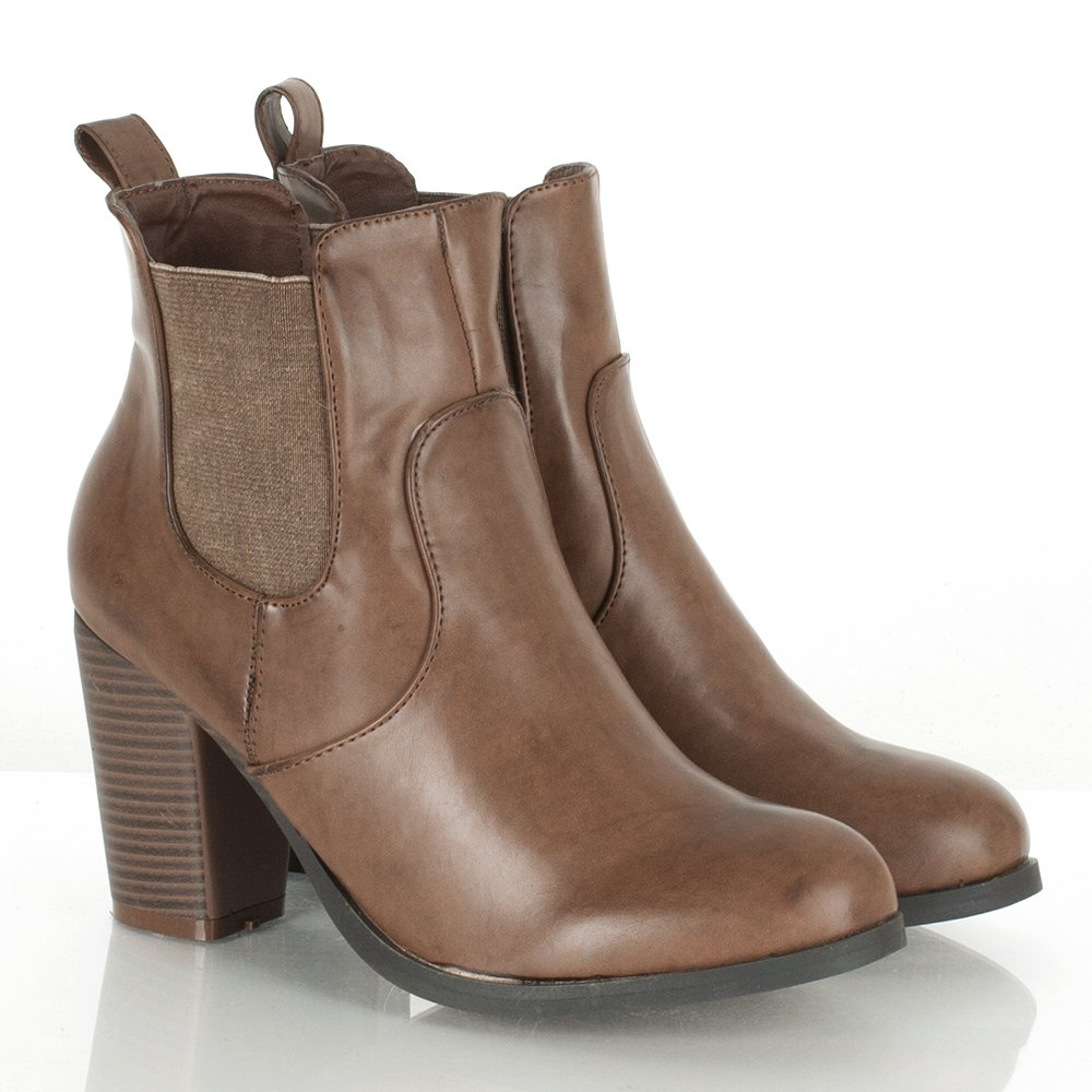 Brown Leather Womens Ankle Boots - Yu Boots
