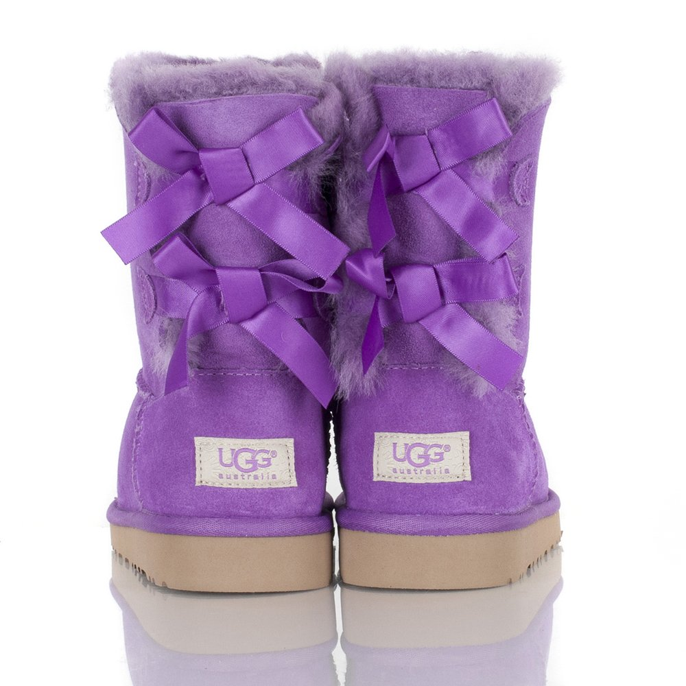 Ugg 174 Purple Kids Bailey Bow Boot