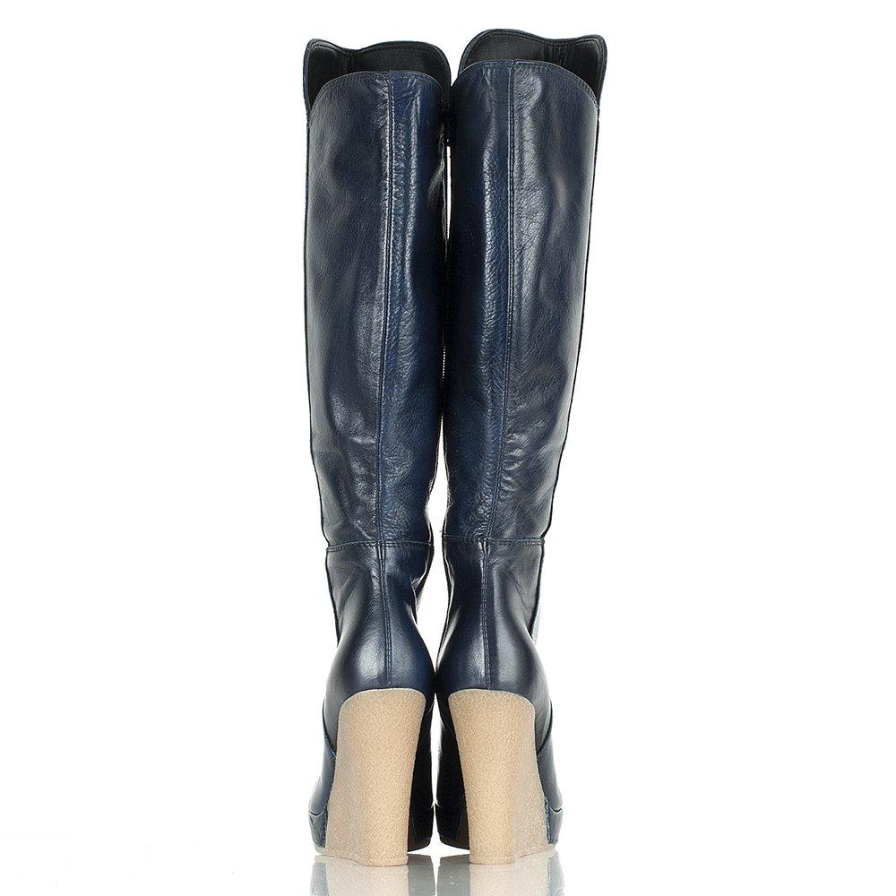 Model  Boots  Daniel  Daniel Navy Wisdom Womens Knee High Wedge Boot