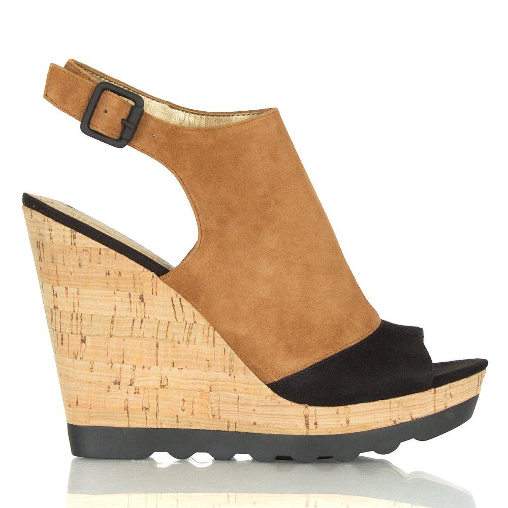 Sam Edelman Kenya Wedge Tan Suede Mule Style Sandal