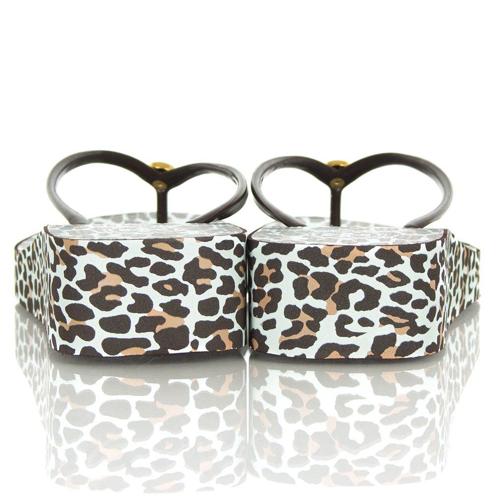 Tory Burch Thandie Leopard Wedge Flip Flop