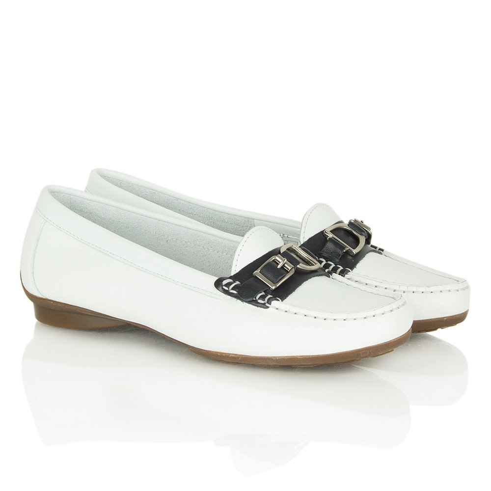 Daniel Navy Leather Conga Women S Flat Loafers