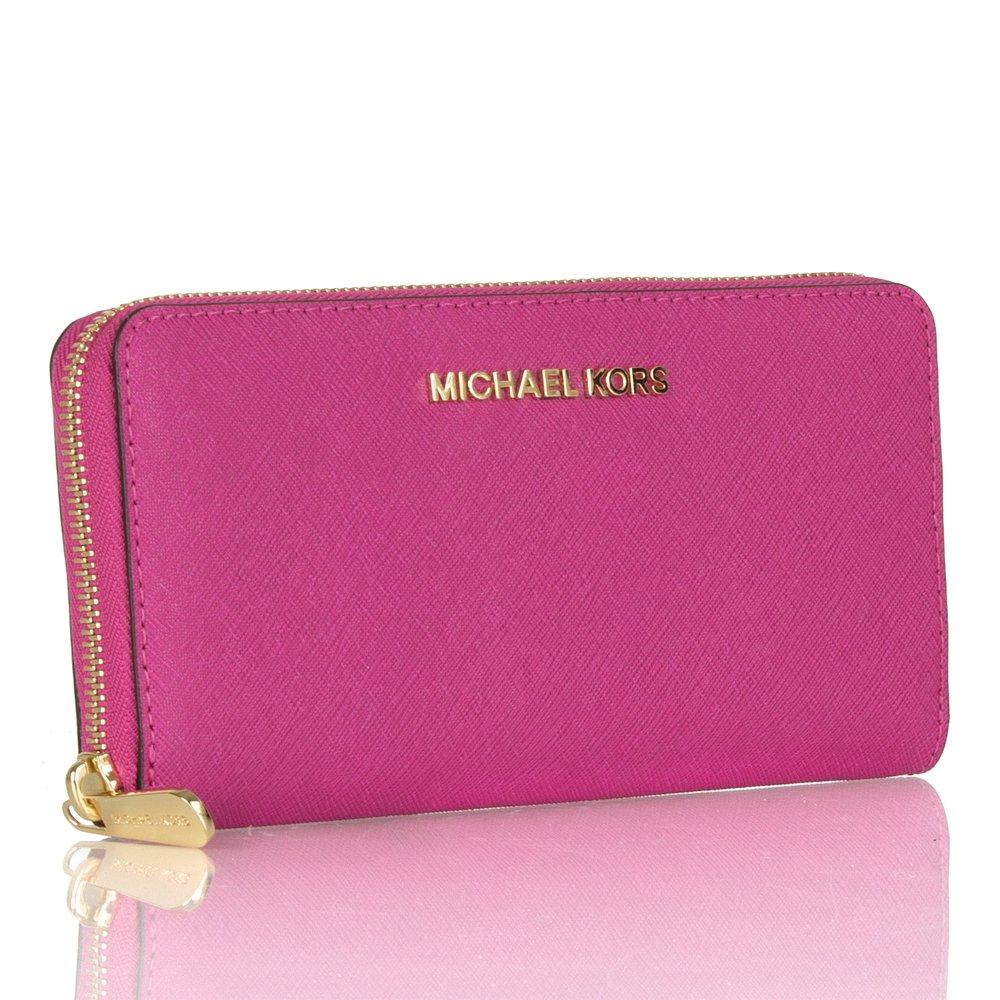 Michael Kors Saffiano Pink Wallet Wallets Nwt Marwood