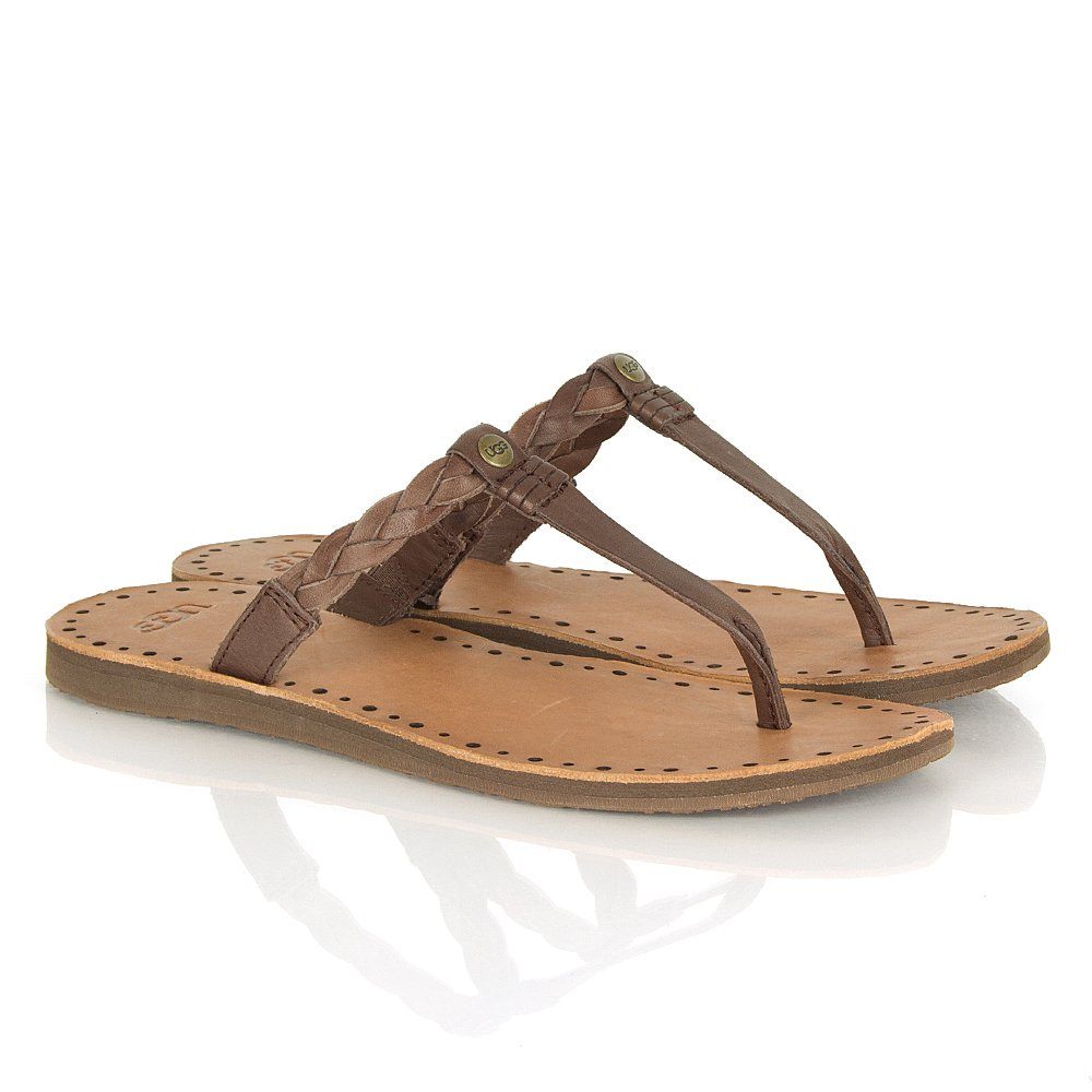 Ugg 174 Bria Chocolate Women S Toe Post Sandal
