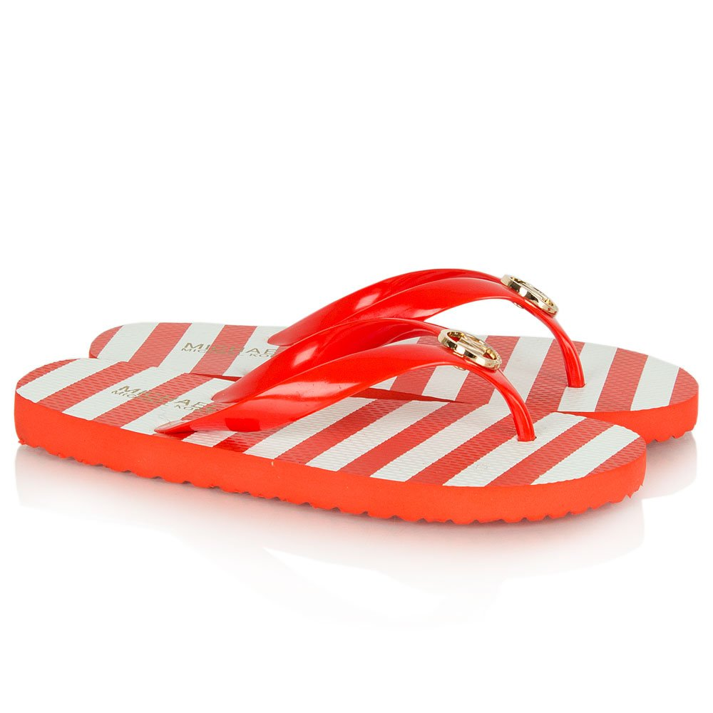 Michael Kors Red Mk Flip Flop Women S Flip Flops