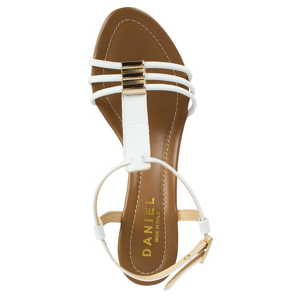 Daniel Lottie White Wedge Womens Sandal