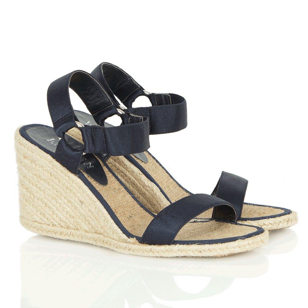 lauren by ralph lauren navy indigo espadrille women 39 s wedge sandal. Black Bedroom Furniture Sets. Home Design Ideas