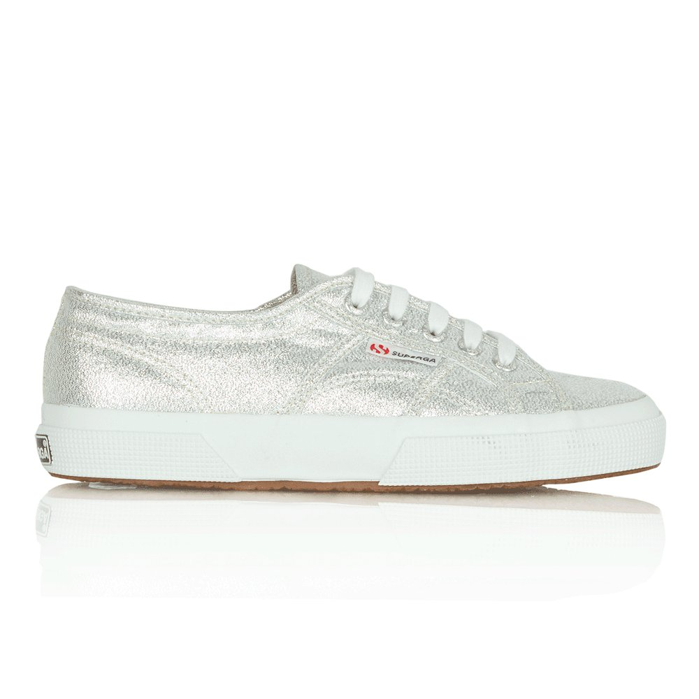 superga silver lamwe women 39 s canvas lace up trainer. Black Bedroom Furniture Sets. Home Design Ideas