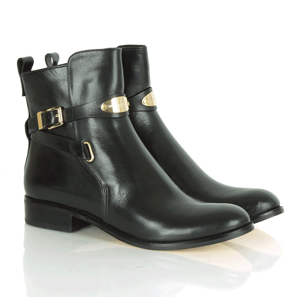 michael kors arley black ankle boot
