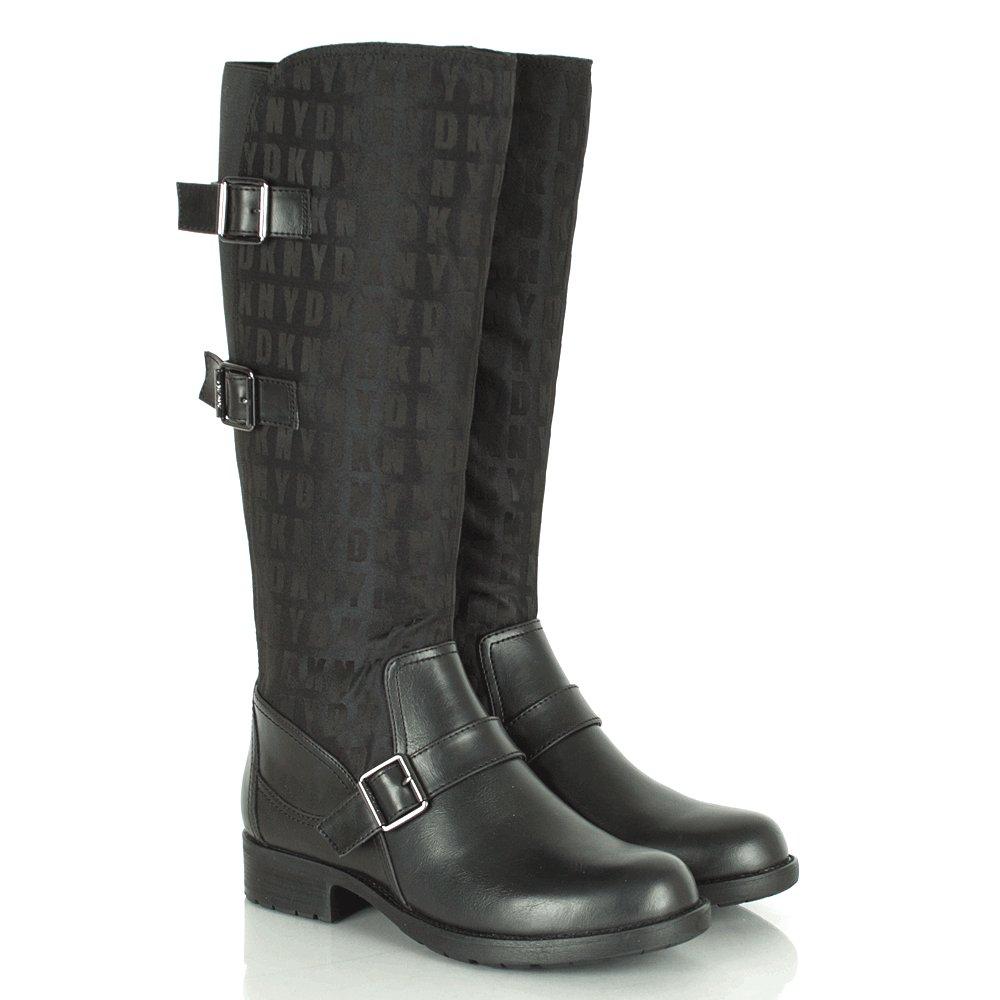 dkny naria logo flat s knee high boot