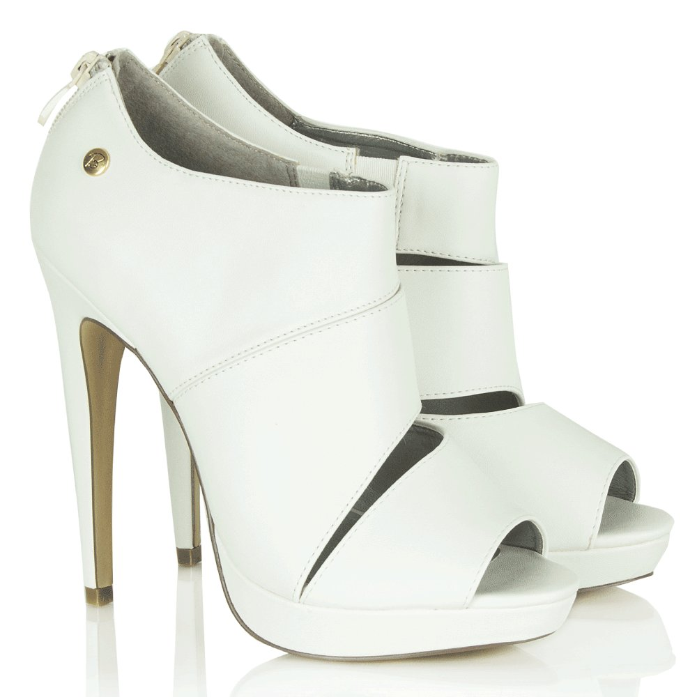 blink white linky 21 cut out shoe boot