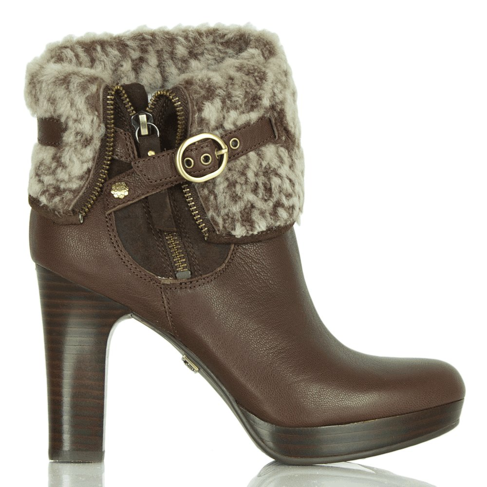 Ugg 174 Chocolate Scarlett Women S Shearling Ankle Boot