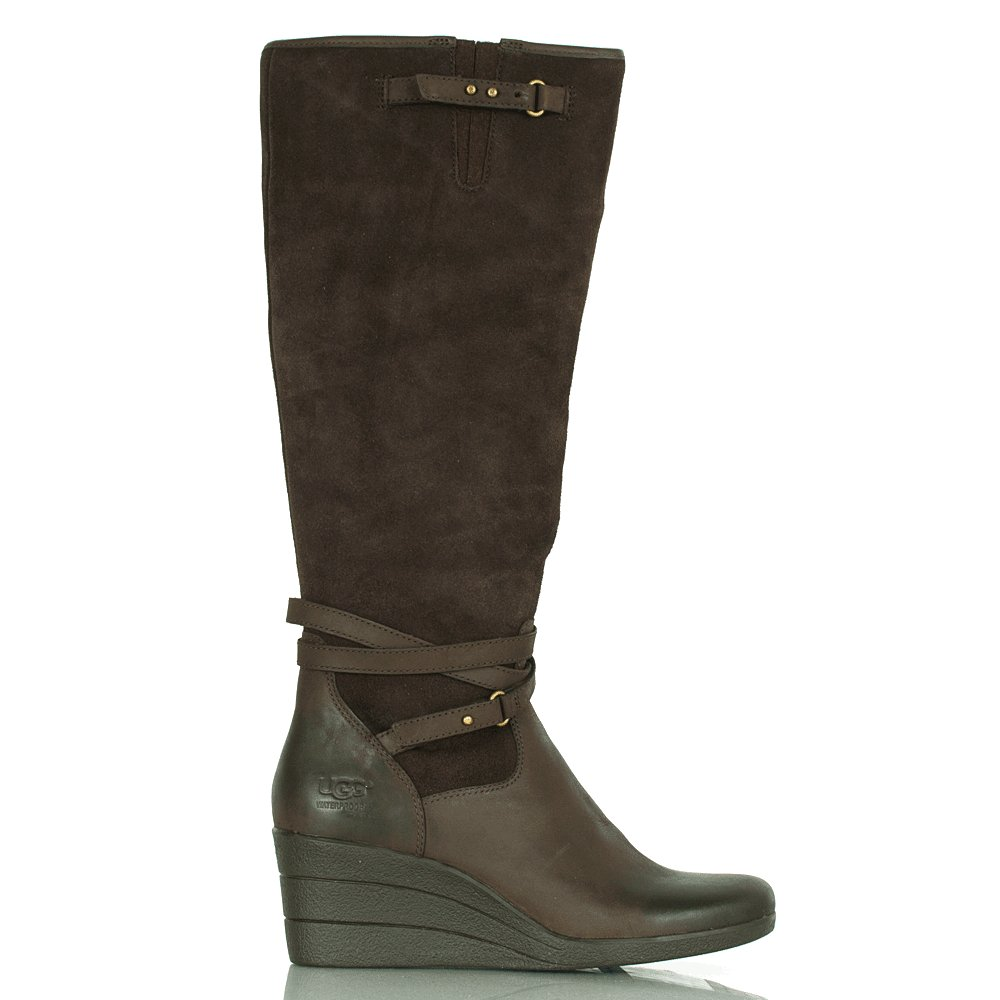 brown leather knee high ugg boots mount mercy