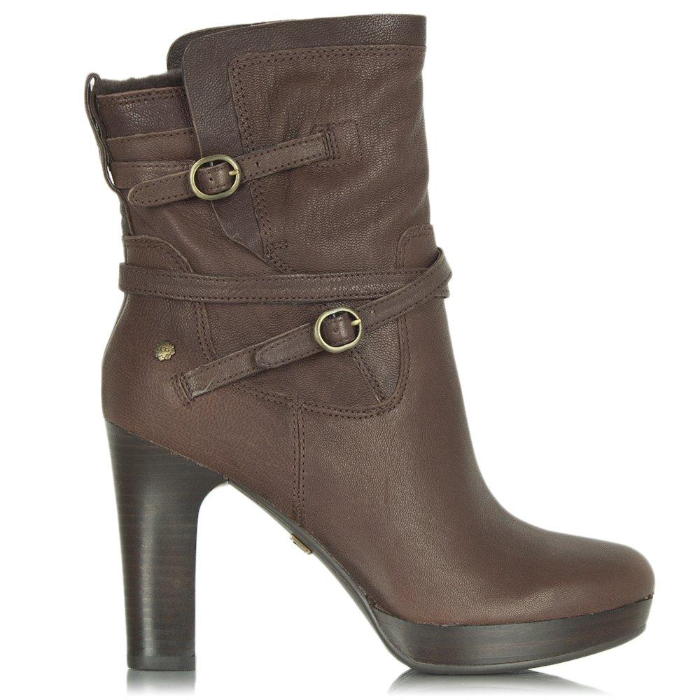 ugg 174 java leather s heeled boot