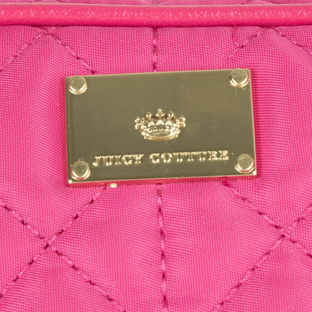 Juicy Couture Pink Nylon Quilted Cosmetic Bag