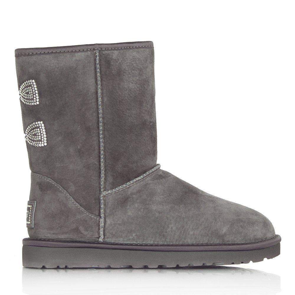 Ugg 174 Purple Classic Short Crystal Bow Women S Boot