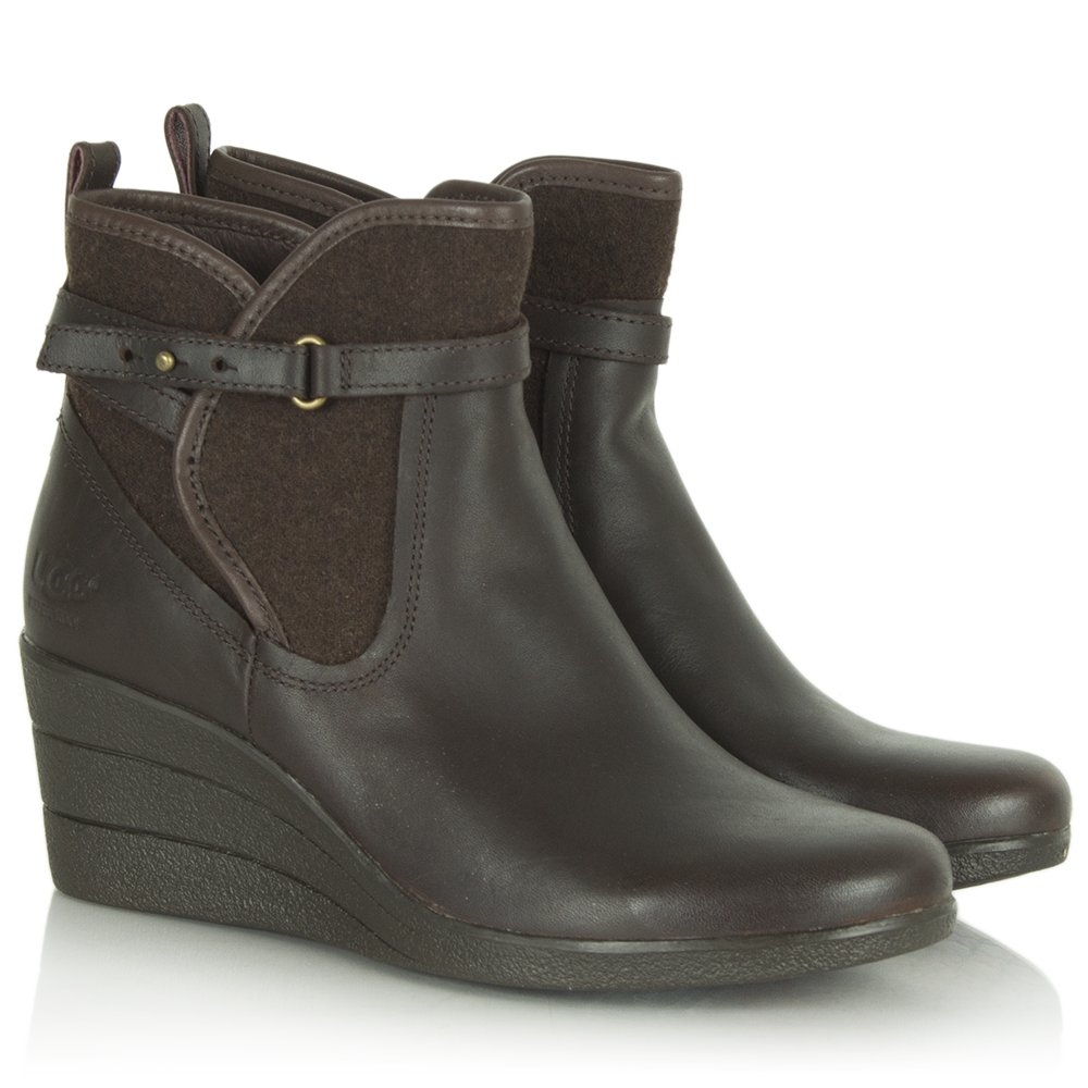 ugg 174 stout emalie s wedge ankle boot