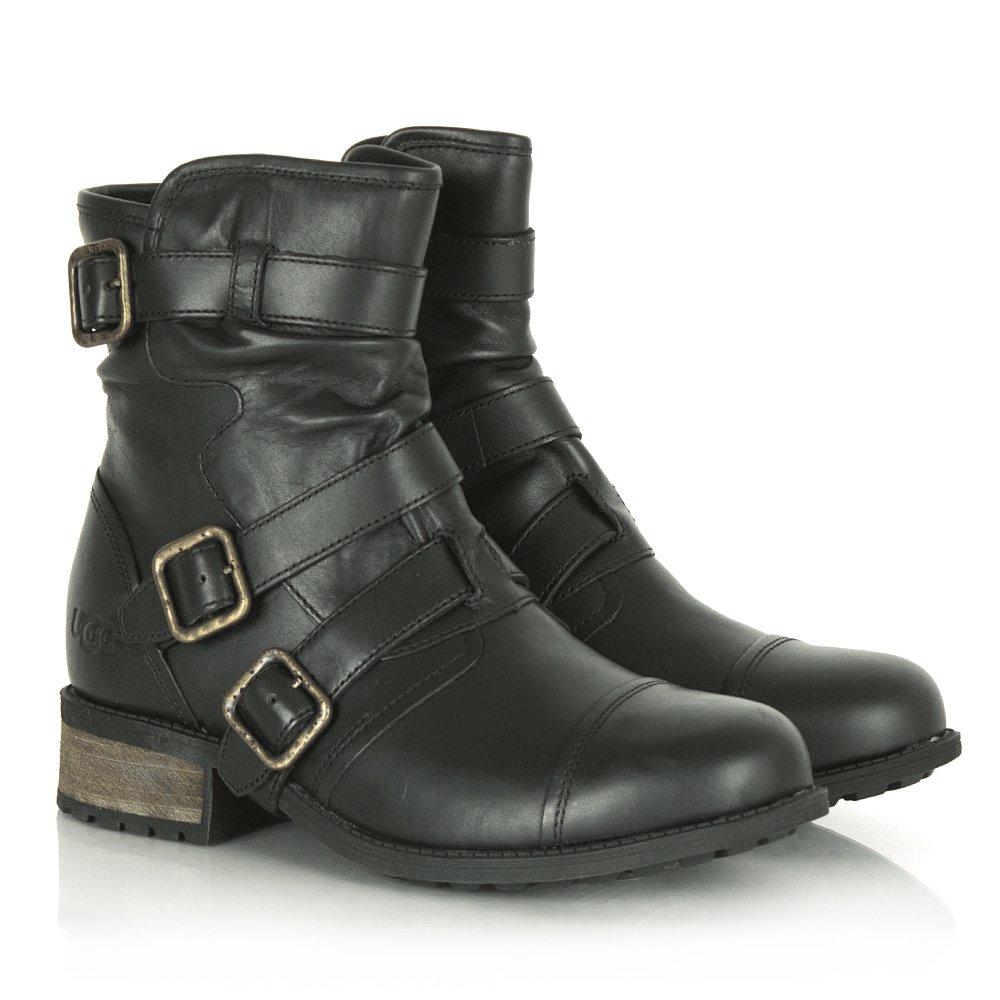 Ugg 174 Finney Women S Black Buckle Biker Boot