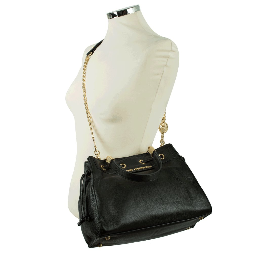 juicy couture daydreamer robertson black leather tote bag. Black Bedroom Furniture Sets. Home Design Ideas