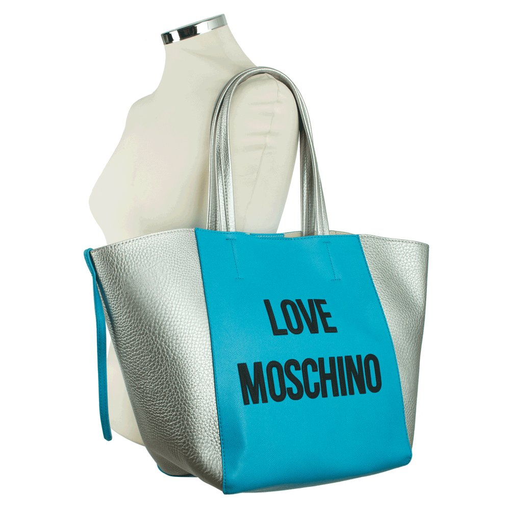 love moschino blue peristera large tote bag. Black Bedroom Furniture Sets. Home Design Ideas