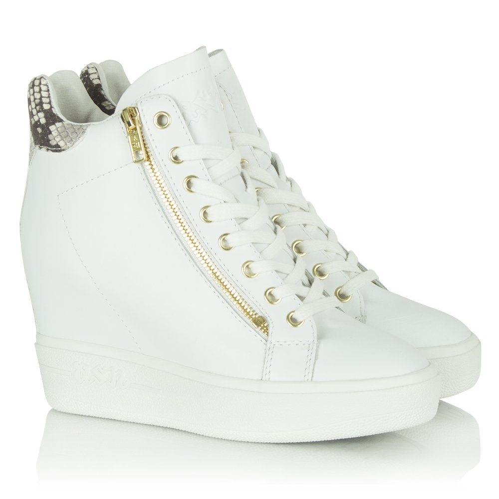 Sneaker Wedge Shoes White