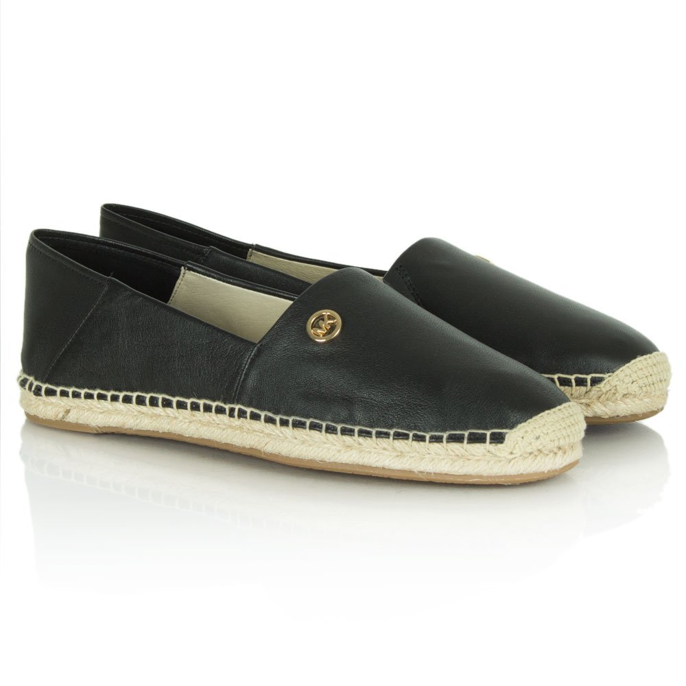 michael kors black leather kendrick slip on espadrille. Black Bedroom Furniture Sets. Home Design Ideas