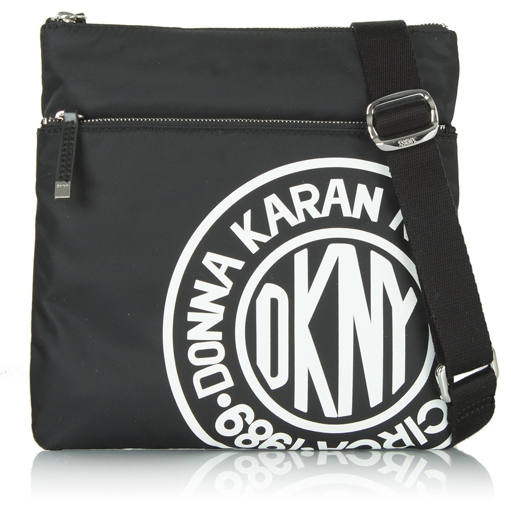 dkny coated logo black crossbody bag blue crossbody bag. Black Bedroom Furniture Sets. Home Design Ideas