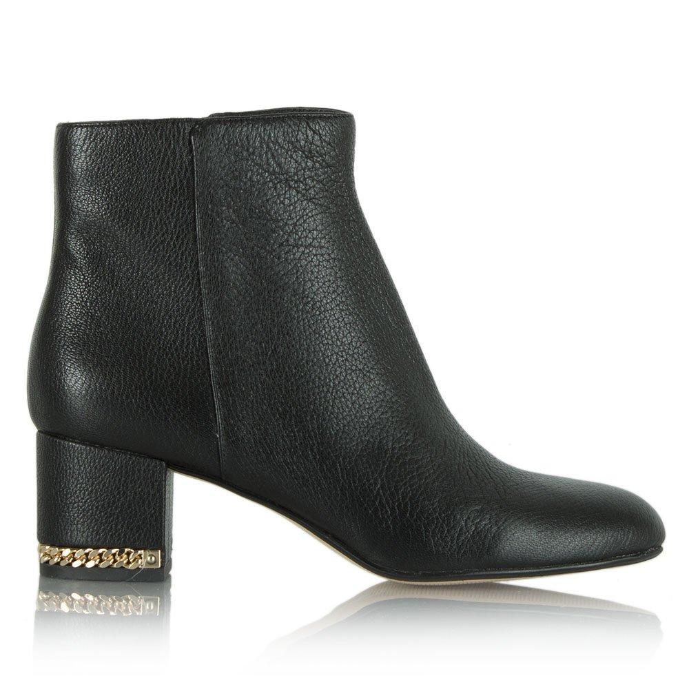 michael kors black leather sabrina chain ankle boot. Black Bedroom Furniture Sets. Home Design Ideas