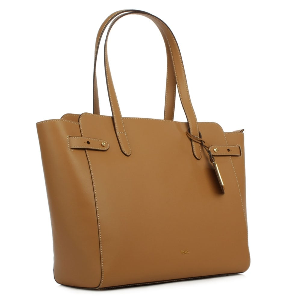 Lauren by Ralph Lauren Harper Parker Tan Leather Tote