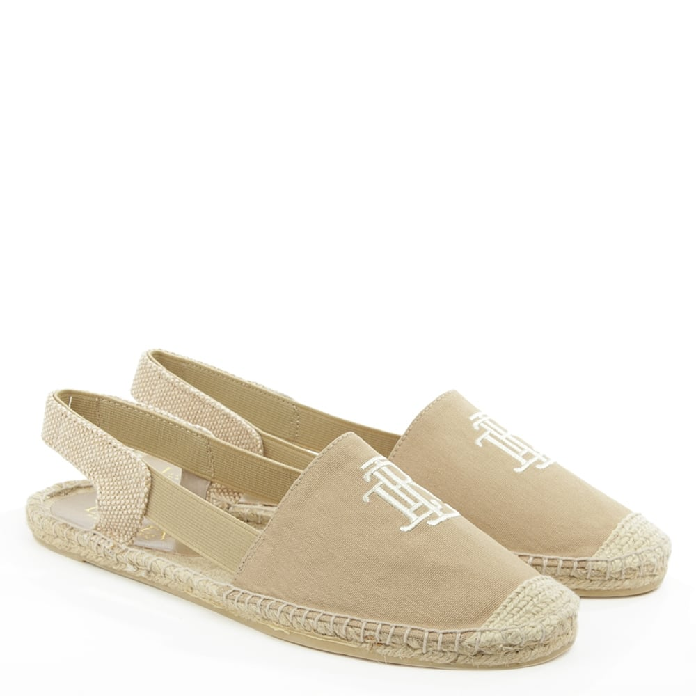 lauren by ralph lauren dafny sling back beige espadrille sandal. Black Bedroom Furniture Sets. Home Design Ideas