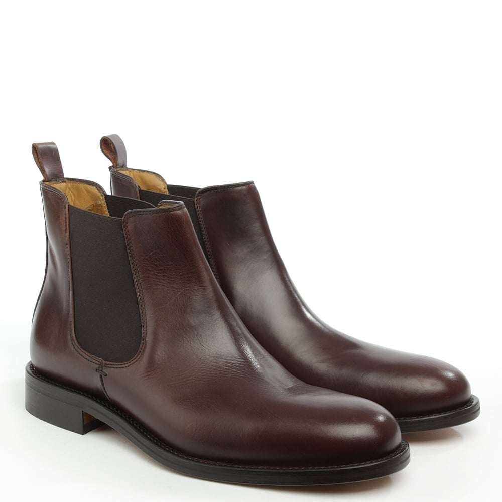 reed halmshaw brown leather chelsea boot