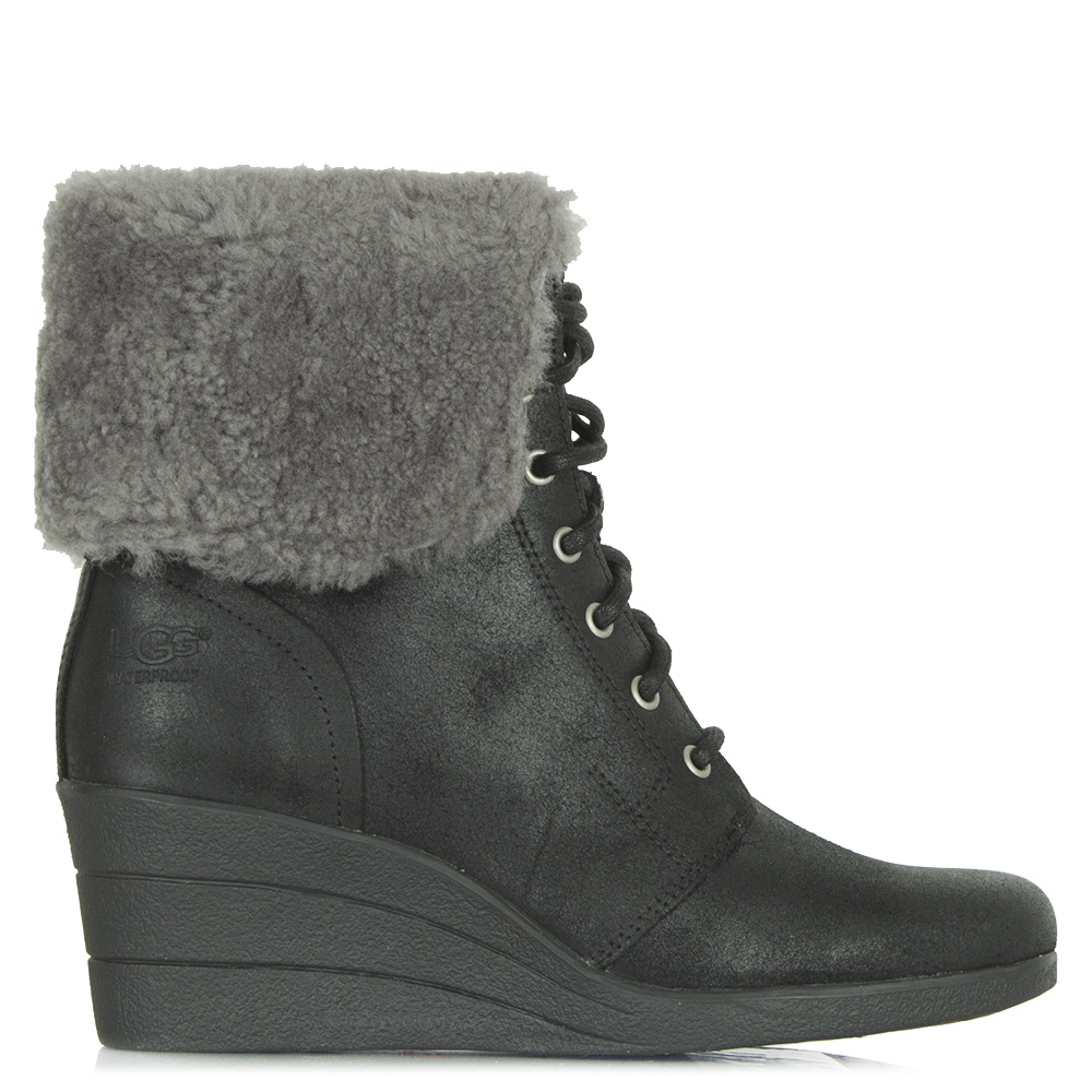 Wedge Ankle Boots. A pair of wedge ankle boots will be among the most versatile styles you have in your closet. Whether you're heading out with friends, shopping the day away or going on a romantic date, take your pick of suede and leather boots with eye-catching embellishments.