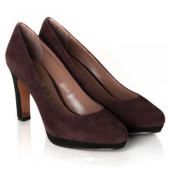 Purple Sambal Women's Suede Court Shoe
