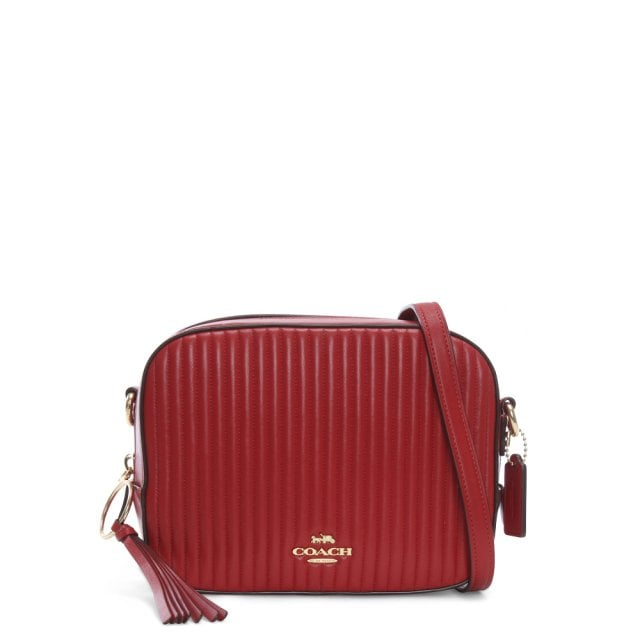 6ffc8723ba7c Coach Quilted Red Leather Camera Bag